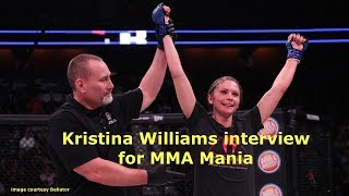 Kristina Williams Interview Before Emily Ducote at Bellator 195