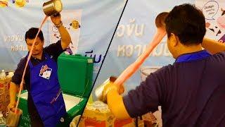 Thailand Street Food - Pulled Milk Tea Master (Teh Tarik)