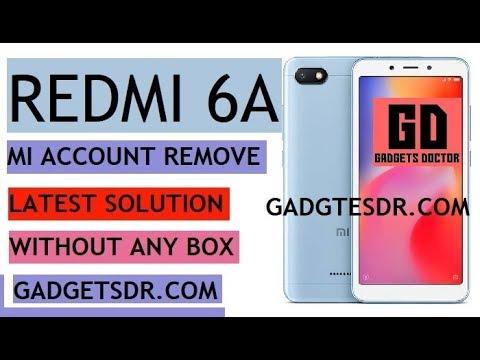 Xiaomi mi 6A mi Account Remove google bypass FRP Remove