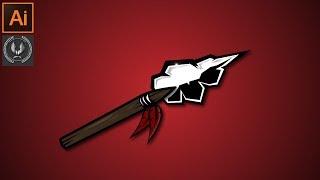 Güzel Spear Logo bir resim Oluşturma Adobe Illustrator CC Öğretici -