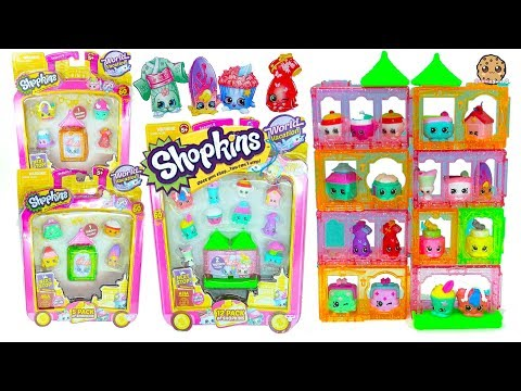 Shopkins Season 8 Asia World Vacation Surprise Blind Bags + Packs - Cookie Swirl C Video