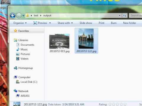 batch image resize using