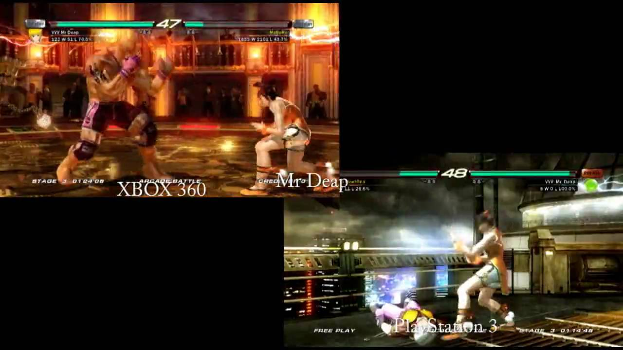 Tekken 6 Loading Comparison Xbox 360 Vs Ps3 Youtube