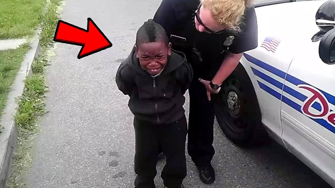 Kid Gets Arrested For Throwing Rocks At Car