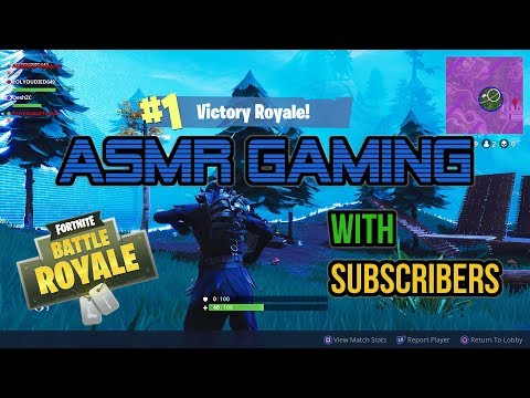 ASMR Gaming | Fortnite Battle Royale 21st Win With Subscribers! ★Controller Sounds + Whispering☆