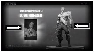 FORTNITE LOVE RANGER SKIN + LOVE TAT PICKAXE SHOWCASE