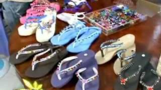 HOW TO MAKE BEADED SLIPPERS FLIP FLOPS LIVELIHOOD BIDANG PINOY HOSTED BY:TINA MARASIGAN