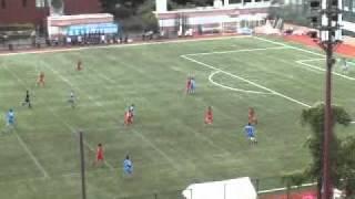 2010年秋季リーグ第1節 (青)東京大学4-0成蹊大学(赤) ハイライト.
