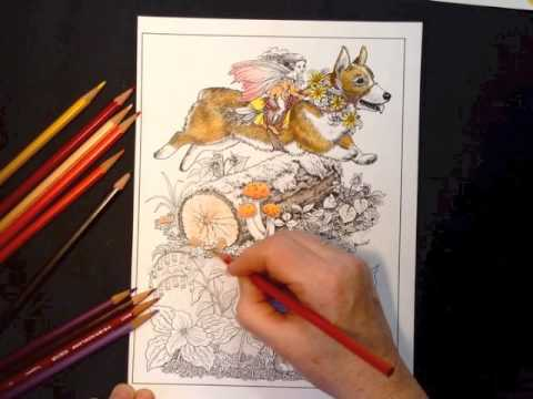 Corgi Fairy Steed VERITHIN Colored Pencil Tutorial by Ruth Sanderson ...
