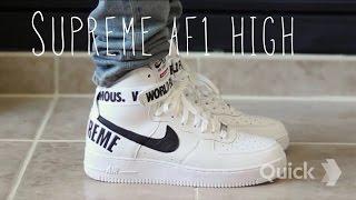 Supreme x Nike Air Force 1 High SP (On Feet & In Depth w/ @kilammoss)