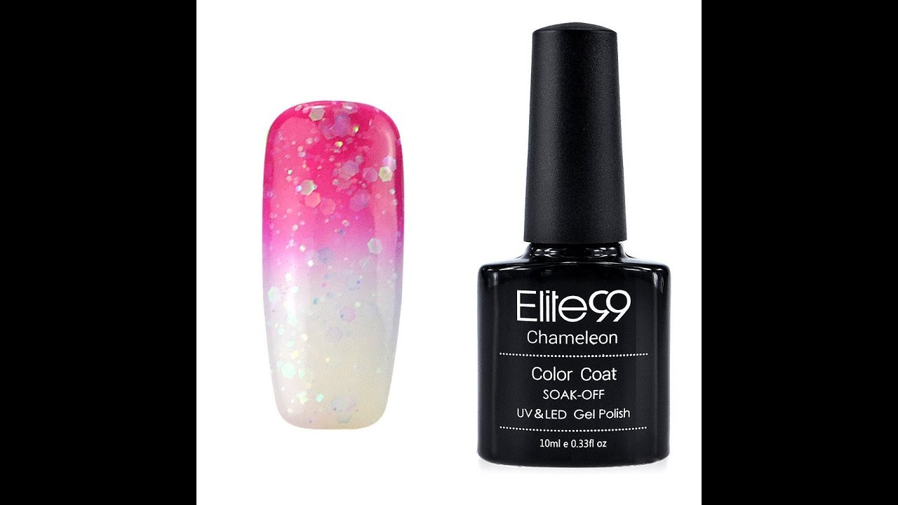 Nail Colors Youtube: Elite99 Thermal Temperature Colour Changing Gel Nail