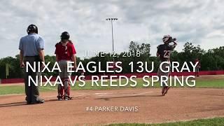 Nixa Eagles Baseball 13U Gray - Nixa vs Reeds Spring June 12, 2018 Game 1