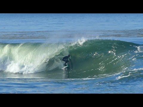 Tyler Fox Surfing Nice Waves at Pleasure Point in Santa Cruz, California