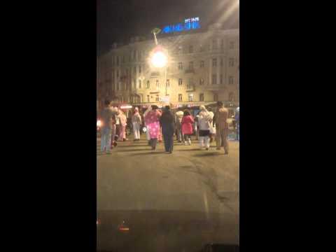 Флеш-моб в центре Казани