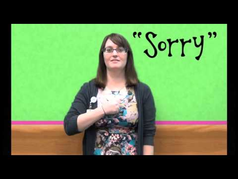 how to say sorry in sign language