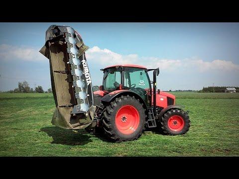 Cięcie trawy z Kubota M135GX & Kosiarka 3.2 m = 40 km/h ☆ GoPro na głowie #15 ㋡ MafiaSolec