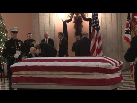 NASA Administrator, other Officials Pay Respects at John Glenn Viewing