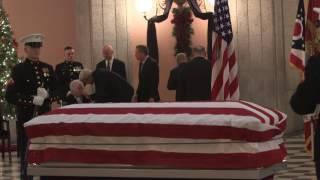 NASA Administrator, other Officials Pay Respects at John Glenn Viewing
