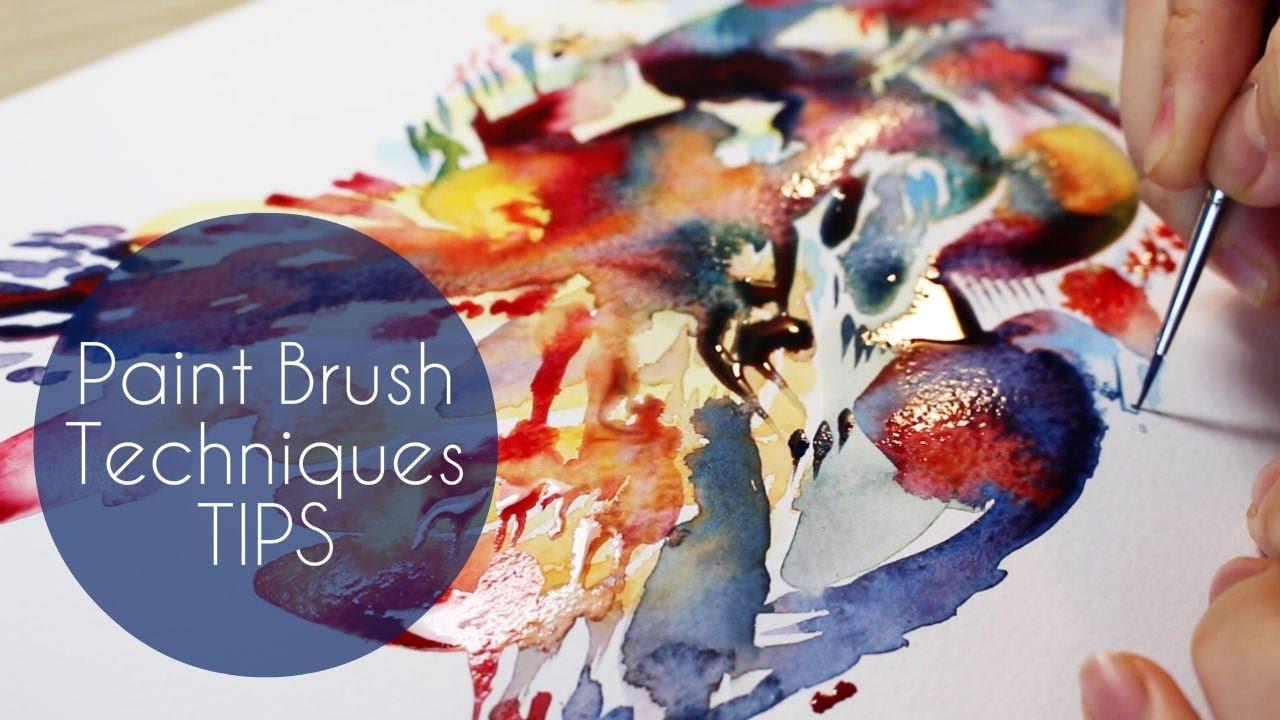 Watercolor art history brush - How I Use Filbert Paintbrush Watercolor Brush Tutorial