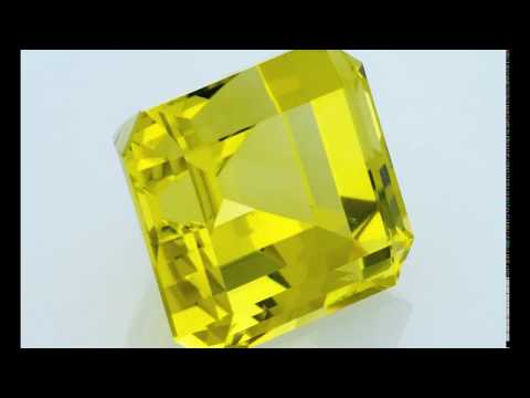Lemon quartz Emerald cut 12 ct, african lemon quartz, step cut, Fair Trade Gemstone