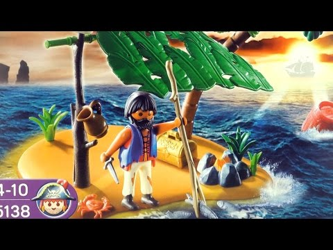 Playmobil Pirates Cast Away on Palm Island 5138 - Playmobil Piraten stranded on deserted island
