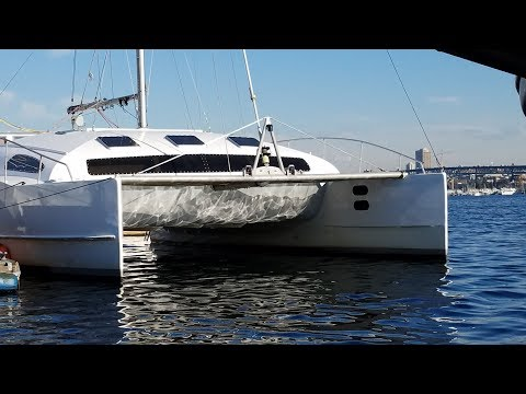 Onboard Lifestyle ep.13 Painting our Catamaran by Dinghy!