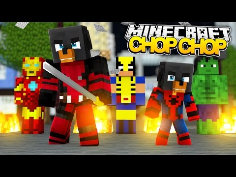 Minecraft CHOP CHOP - ALL THE SUPERHEROES GET CHOPPED UP BY DONUT w/BABY MAX - Minecraft Roleplay