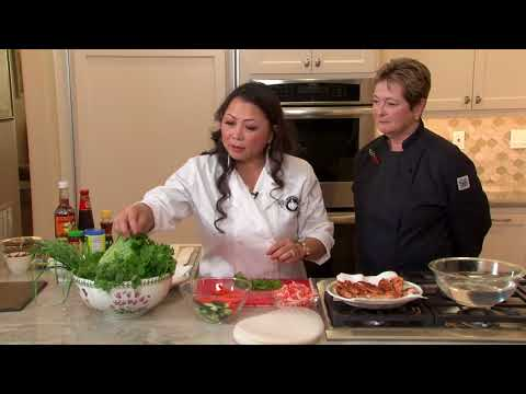 Kristin Nguyen Makes Salmon Spring Rolls