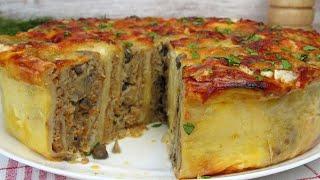 Пирог с Мясом Из Лаваша ☆ Простой РЕЦЕПТ вкуснейшего мясного пирога | Вкусные идеи от Натали