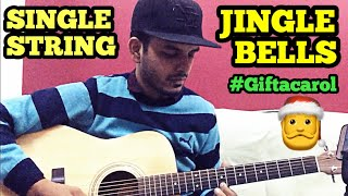 Presenting guitar cover of jingle bell song on single string. This ...