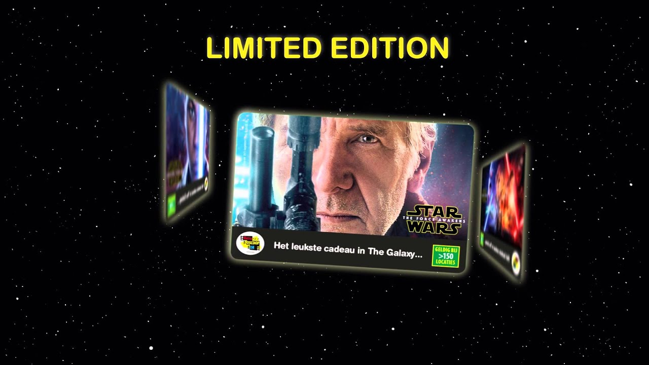Limited Edition Nationale Bioscoopbon Star Wars The Force Awakens ...: https://youtube.com/watch?v=e0iwp8l4mk8