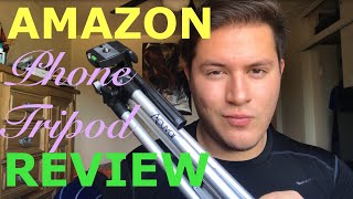 Acuvar 50 Inch Aluminum Camera Tripod with Smartphone Mount Review | Amazon Prime