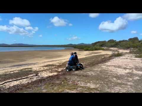 beach-electric-wheelchair-on-turkey-beach,-qld