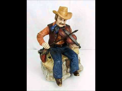 Waco Melody In Motion FIDDLER Cowboy Music Box Animated