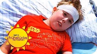 """RETTET UNSEREN SOHN!"": Kind leidet an Gehirntumor | SAT.1 Frühstücksfernsehen"