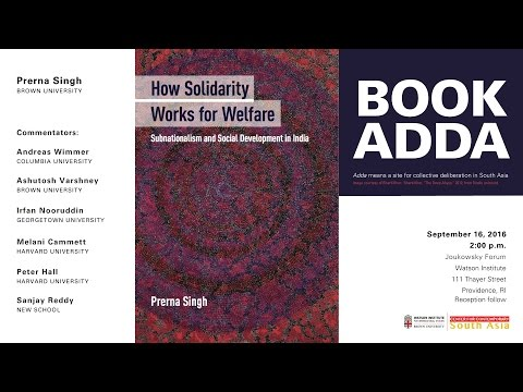 Prerna Singh Book Adda ─ How Solidarity Works for Welfare