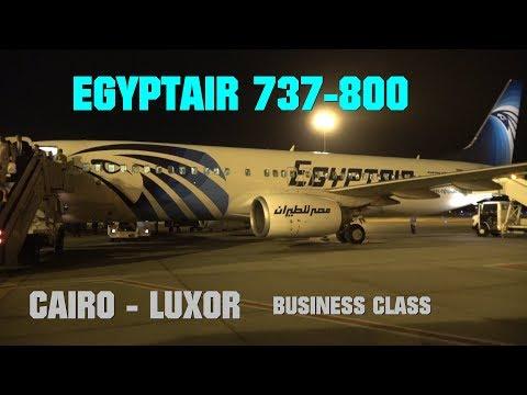 Egyptair Cairo - Luxor Business Class 737-800 4K