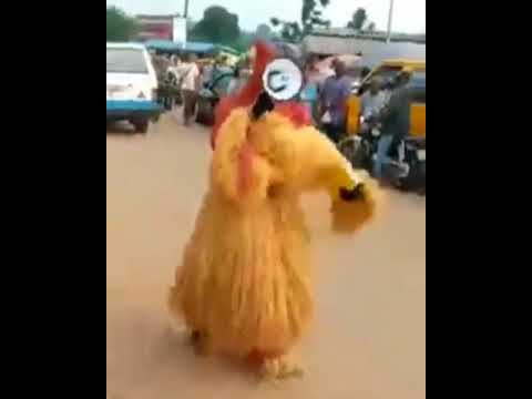 Man In Masquerade Attire Spotted On The Streets In Nigeria Preaching The Gospel Of Jesus Christ