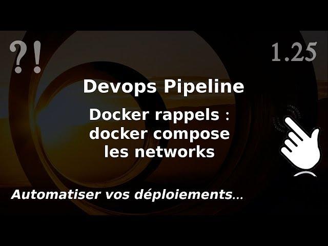Pipeline Devops - 1.25. Docker COMPOSE : les networks