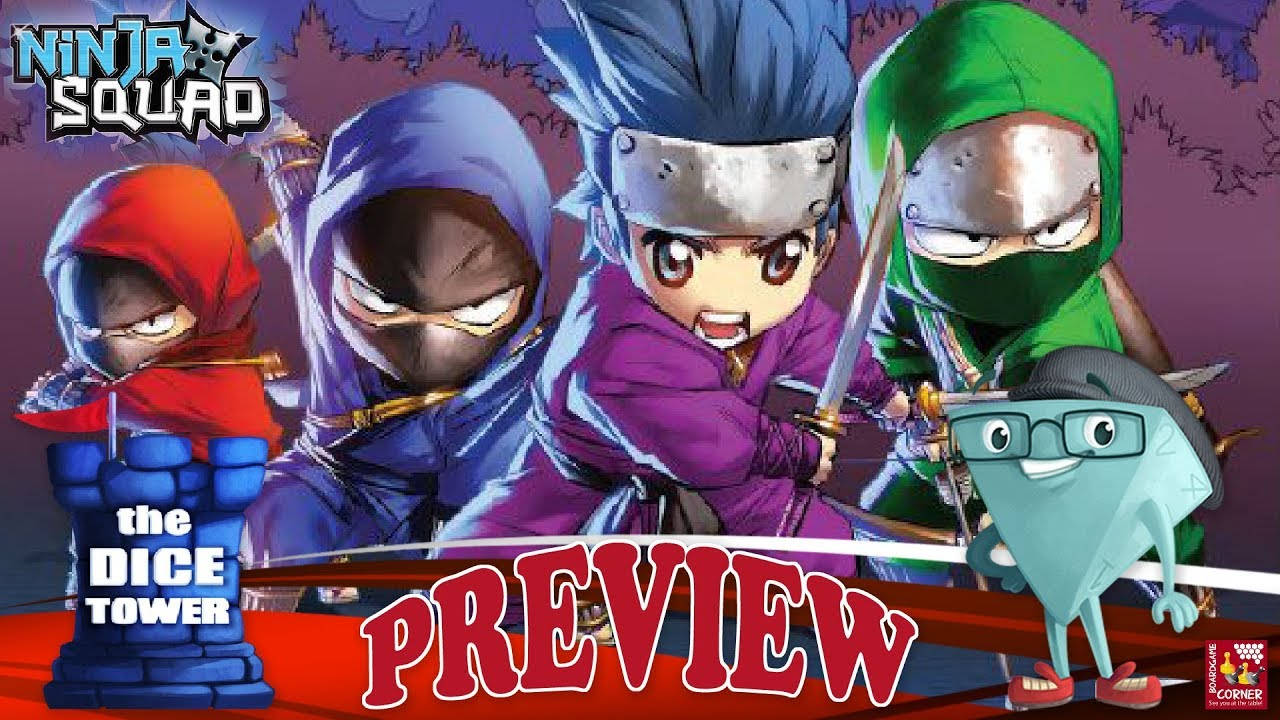 """NINJA SQUAD"" a Dice Tower Preview – with Boardgame Corner"