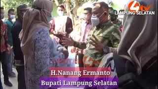 LIPUTAN4 TV.  Saat Pembagian BST dan Bansos PPKM Bupati Lampung Selatan Sidak Kantor Pos Palas