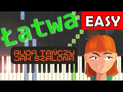 🎹 Ruda tańczy jak szalona (CZADOMAN) - Piano Tutorial (łatwa wersja) 🎹