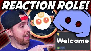 DISCORD REACTION ROLE with YAGPDB BOT: How To Set Up An Awesome Discord Welcome Message!