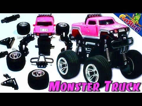 Машинки - мультики про машинки Автосервис Cобираем Джип (Monster Truck)