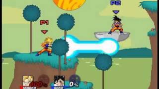 Super Smash Flash 2 Character Moves Goku