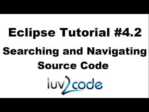 Java Eclipse Tutorial - Part 4.2: Searching and Navigating Source Code
