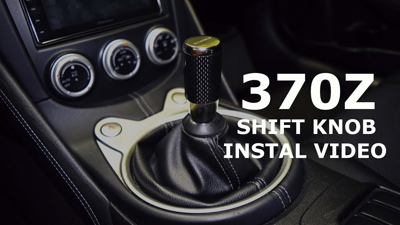 How to install a 370z Shift Knob!!! - YouTube