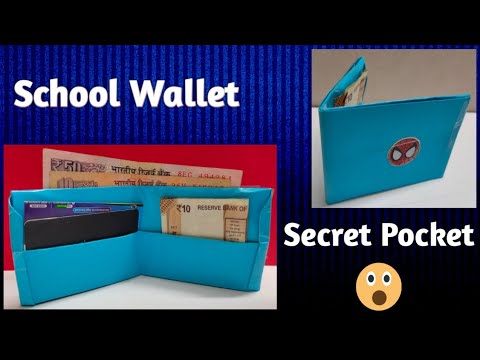 How to make a paper wallet in Hindi | Spiderman wallet | Paper purse tutorial | Origami wallet