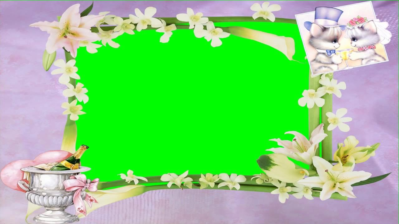 HD Beautiful Wedding Frame Green Screen  Background Video