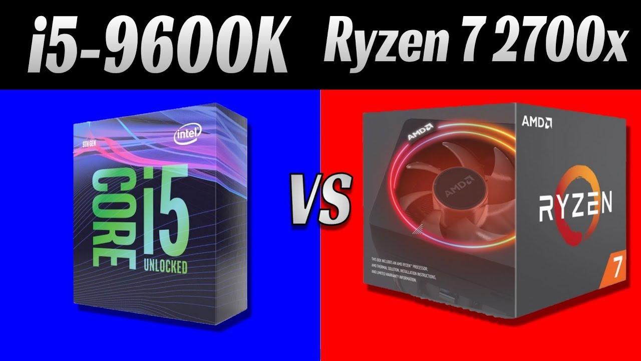 Intel Core i5 9600K vs AMD Ryzen 7 2700x: Gaming Benchmark 1080p, 1440p,  2160p  9 Games and 36 tests